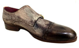 Oscar William Young Street Men Luxury Classic Handmade Leather Shoes-7.5