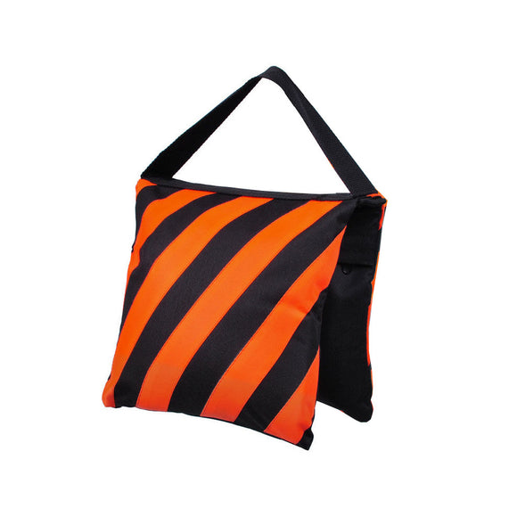 Sand Bag (black and reddish orange stripes)