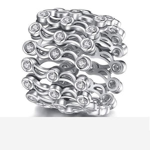 Magic 2-in-1 S925 Sterling Silver Folding Retractable Ring Bracelet