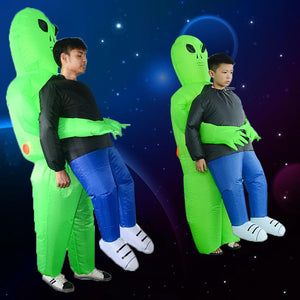 Green Alien Carrying Human Costume(BUY 2 FREE SHIPPING)