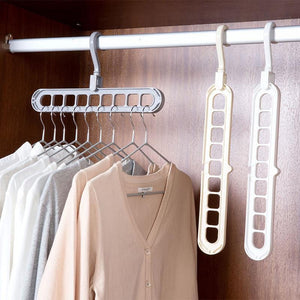 Multifunctional nine-hole hanger