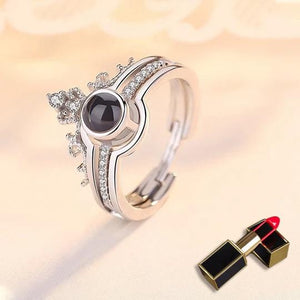 "100 Languages ""I LOVE YOU"" Ring&Necklace(Ring is adjustable)"