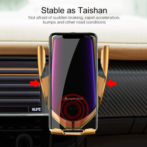 R2 Wireless Automatic Sensor Car Phone Holder & Charger