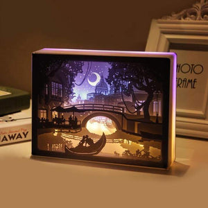 3D Light and Shadow Night Lamp Paper Carving Art(Buy 2 Free Shipping)