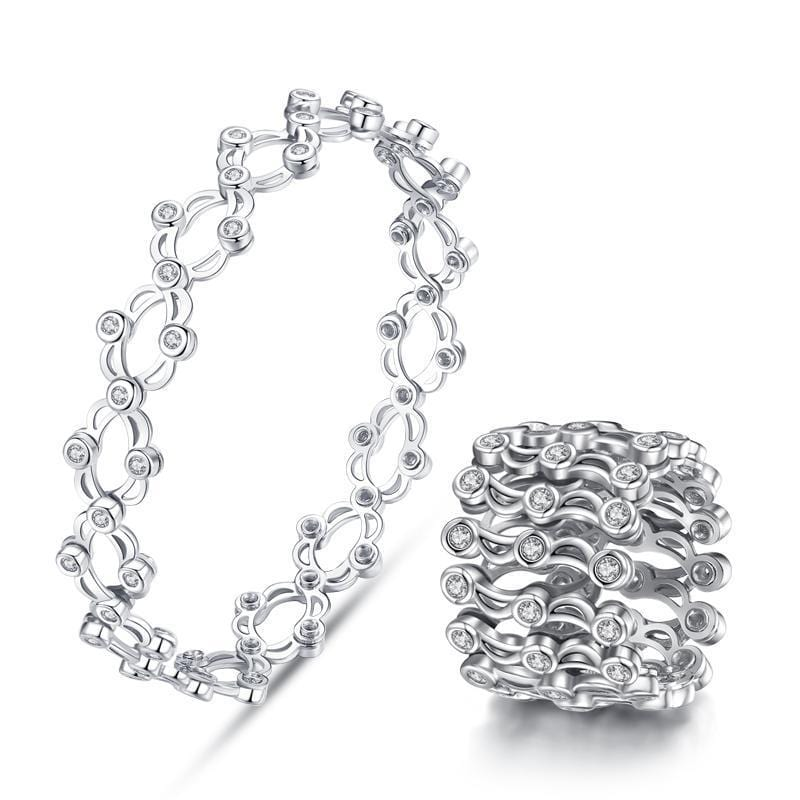 [Lowest Price!] 925 Sterling Silver Folding Retractable Ring Bracelet - BUY 2 FREE SHIPPING