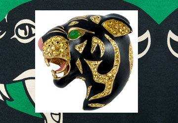 Cat Woman / Prowling Panther Brooch