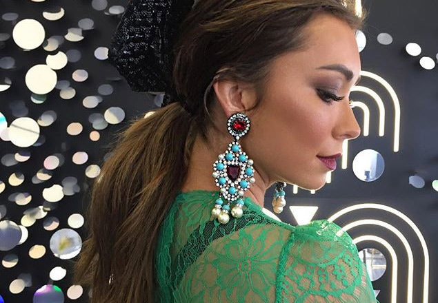 Melbourne Cup 2017 - Rozalia Russian's Earrings VRBA Are Everything!