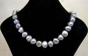 Pale Grey Freshwater Baroque Pearl Necklace