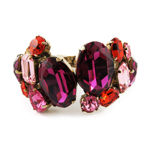 Harlequin Market Large Austrian Crystal Clamper Cuff
