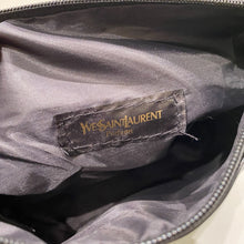 Load image into Gallery viewer, Yves Saint Laurent Black Patent Fabric Pouchette