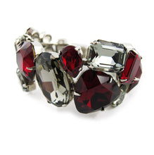 Load image into Gallery viewer, Harlequin Market Large Austrian Crystal Clamper Cuff