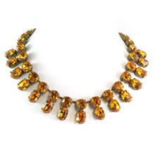 Load image into Gallery viewer, Harlequin Market Double Crystal Accent Necklace - Topaz