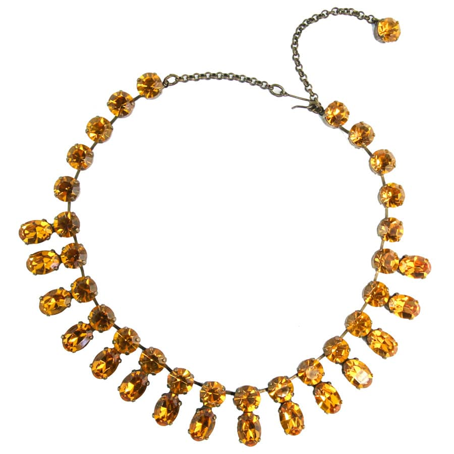 Harlequin Market Double Crystal Accent Necklace - Topaz