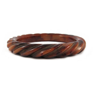 Vintage Bakelite wave carved bangle c.1950's
