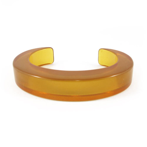 Vintage translucent Bakelite cuff c.1950's - honey