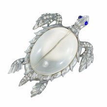 Load image into Gallery viewer, Vintage Clear Bubble Body Turtle Brooch c. 1940