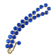 Load image into Gallery viewer, Harlequin Market Crystal Accent Necklace - Capri Blue (medium)