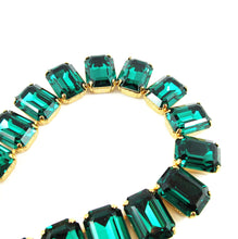 Load image into Gallery viewer, Harlequin Market Octagon Crystal Accent Necklace - Emerald