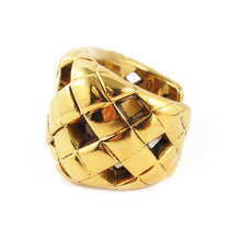Load image into Gallery viewer, Famous vintage Chanel open quilted gold cuff c. 1960