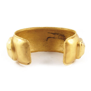 Vintage Gold Plated Chanel Logo Cuff c. 1980
