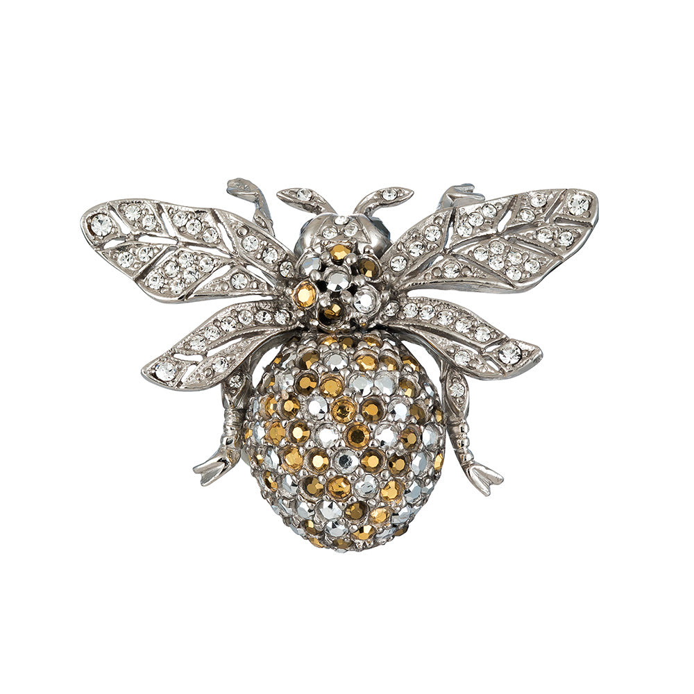 Ciner NY Chrome 100th Anniversary Bee Brooch - Pin