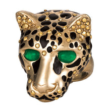 Load image into Gallery viewer, Ciner NY Gilded Cheetah Ring - Size 7