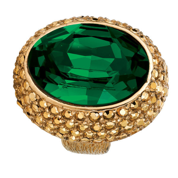 Ciner NY 18 kt Gold Plated - Emerald Her Majesty Ring - Size 7