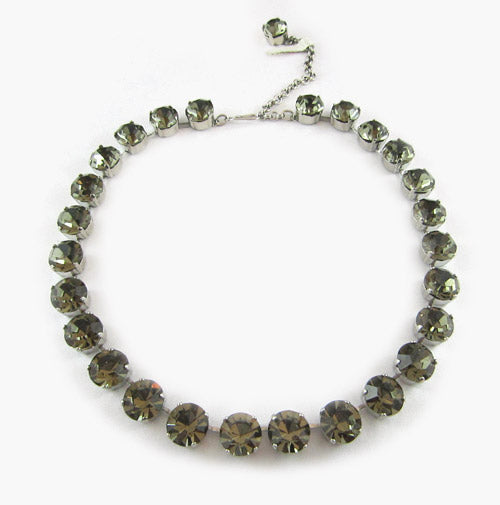 Harlequin Market Crystal Accent Necklace - Black Diamond