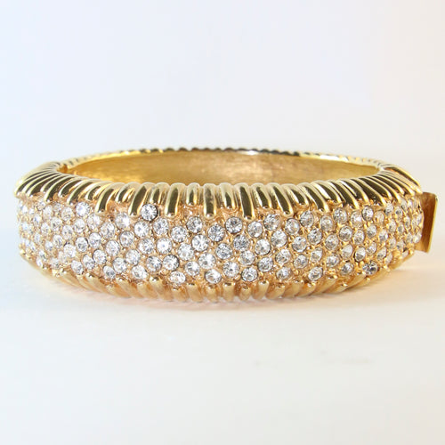 Ciner NY Gold Plated & Clear Crystal Bangle