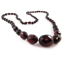 Load image into Gallery viewer, Vintage Faceted Bakelite Beaded Necklace - Cherry c. 1950's