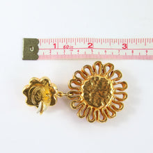 Load image into Gallery viewer, Christian Lacroix Signed Vintage 1990s Scalloped Drop Gold Plated Earrings (Clip-on)