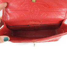 Load image into Gallery viewer, Vintage Authentic Signed 'Chanel' Quilted Red Leather Chain Bag - Paris