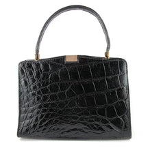 Load image into Gallery viewer, French Vintage Signed 'Made Expressly For Macy Associates' Croc Skin Purse c. 1950
