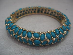 Kenneth Jay Lane Turquoise Clamper