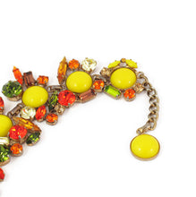 Load image into Gallery viewer, Harlequin Market Multi Coloured Austrian Crystal Detail Bracelet