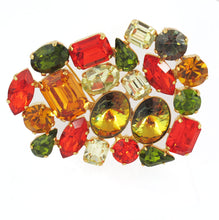 Load image into Gallery viewer, Harlequin Market Crystal Cluster Brooch