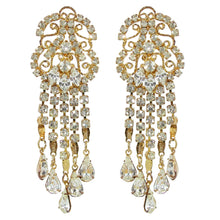 Load image into Gallery viewer, HQM Austrian Chandelier Clear Crystal Earrings (Clip-on)