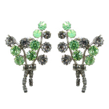 Load image into Gallery viewer, HQM Austrian Crystal Leaf Cluster Earrings (Clip-On)