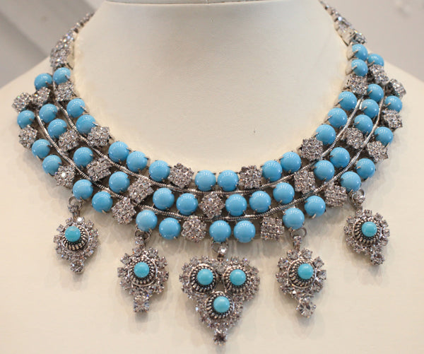Faux Turquoise Vrba Necklace