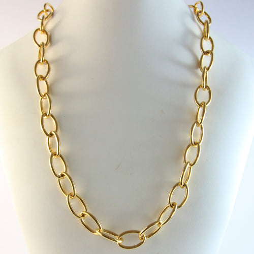 Simple Vintage Gold Chain Necklace