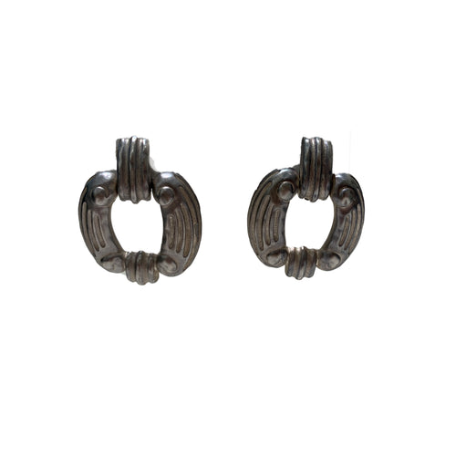 Vintage Givenchy Silver Tone Earrings (clip-on)
