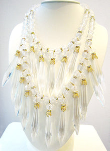Vintage Lucite Bib Necklace