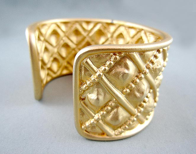 Gold Plaited Cuff