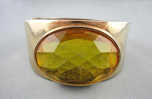 Large Topaz Crystal Cuff