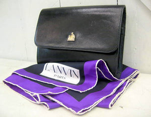 Vintage Lanvin Clutch with Silk Scarf