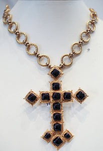 Vintage Chanel Cross Pendant