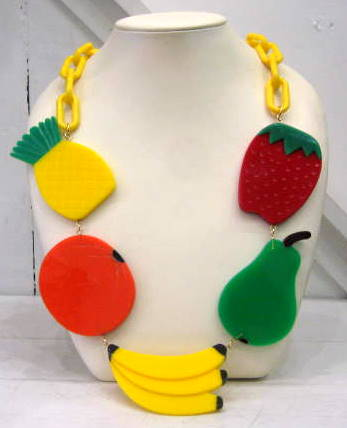 Harlequin Market Fruit Necklace
