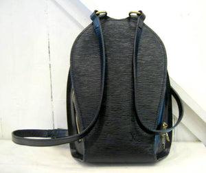 Vintage Louis Vuitton Leather Black Backpack