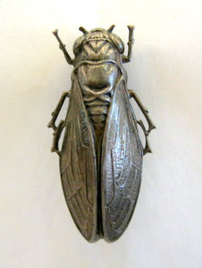 Mixed Metal Cicada Brooch
