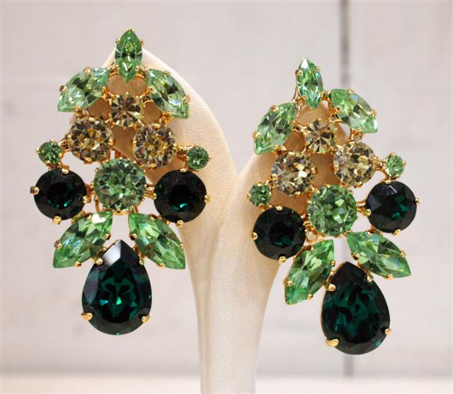 Harlequin Market Crystal Earrings